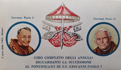 Filatelia: 1978 giro completo annulli Sede Vacante