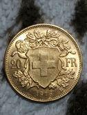 Moneta da 20 franchi svizzeri 1916 Oro