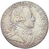 Moneta Savoia - Vittorio Amedeo III, 1773-1796 5 Soldi 1794.