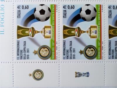 INTER coppa Italia 2010-2011 minifoglio