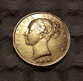 Sovereing Sterlina d'oro 1869