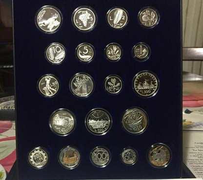 Editalia Storia Della Lira 20 Monete Argento
