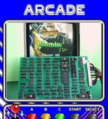 Scheda Pcb Jamma Blomby Car per Arcade Videogames