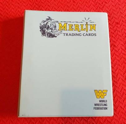 Raccoglitore completo Wrestling WWF Merlin 1991 150 cards