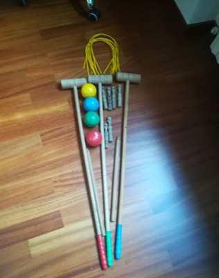 Croquet gioco in legno vintage