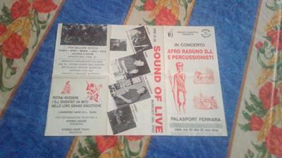 Volantini da collezione afroraduni anni '80
