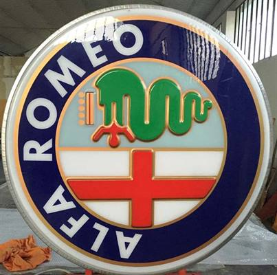 INSEGNA ALFA ROMEO D'EPOCA