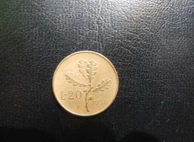 20 Lire del 1958