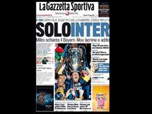 Gazzetta dello Sport Inter Champion Ligue