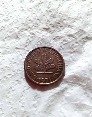 Moneta storica da collezione del 1971