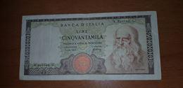 Banconota da Lire 50000 Leonardo 1967
