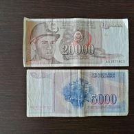 Jugoslavia da 5.000 e 20.000 dinari