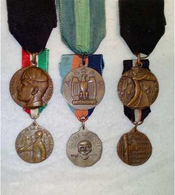 Monete Epoca fascista lotto 6 medaglie