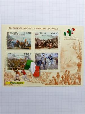 Italia 150° anniversario spedizione dei mille 2010 fogliett