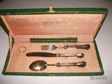 Set posate argento primi 900
