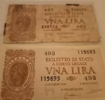 Moneta storica cartacea da collezione
