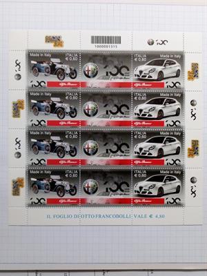 2010 Centenario fondazione Alfa Romeo minifoglio