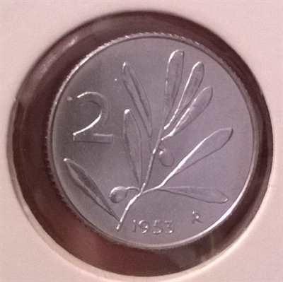 Monete 2 lire 1953 e 1959